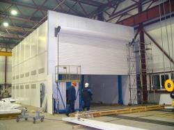 Рулонные промышленные ворота для больших проемов и ангаров теплые